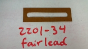 FAIRLEAD, AILERON CABLE AT WING SKIN (METAL)  (082201-34)